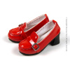 1/6 Scale High Platform Red Glossy Loafer Heels