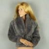 Vogue 1/6 Scale Female Fashion Gray Fur Jacket