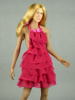 Vogue 1/6 Scale Female Fashion Pink Layered Lace Party Dress