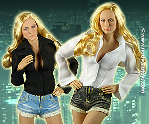 1/6 Scale ACPlay Female Lowcut Blouse & Denim Hot Shorts Sets Banner
