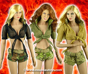 Fire Girl Toys 1/6 Scale Military Camouflage Outfit Sets Banner