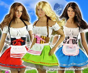 Flirty Girl 1/6 Scale Oktoberfest Beer Maid Uniform Sets