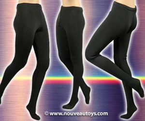 Nouveau Toys 1/6 Scale Female Opaque Black Tights