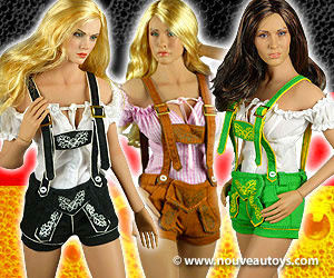 1/6 Scale Flirty Girl Female Lederhosen Uniform Sets