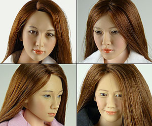 Kumik 1/6 Scale Female Head Sculpts