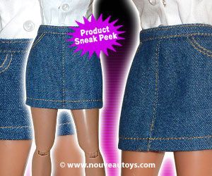Nouveau Toys 1/6 Scale Blue Denim Jean Long & Short Skirts