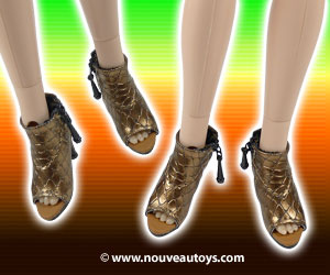 Nouveau Toys 1/6 Scale Faux Alligator Skin High Heel Shoes
