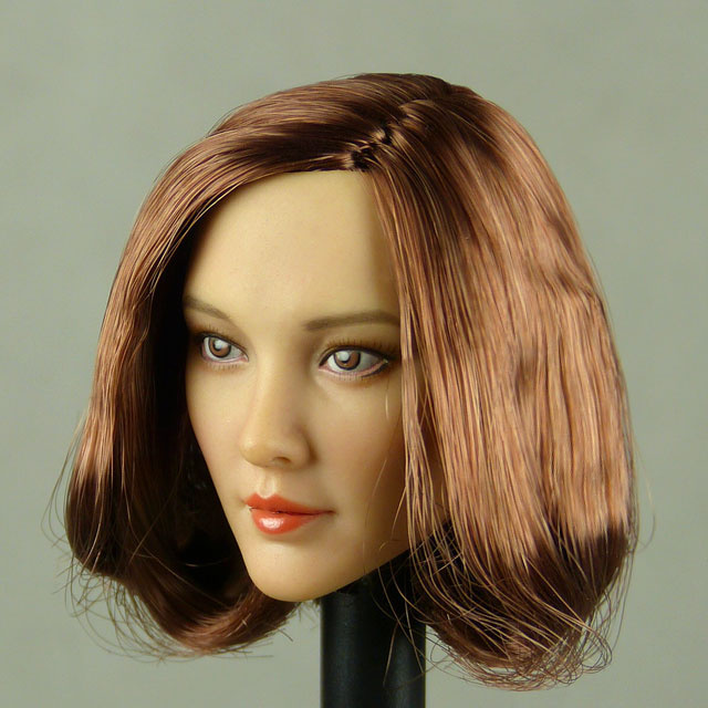 Cat Toys 1/6 Scale Female Asian Head Sculpt (Pale Tan) With Auburn Short Hair