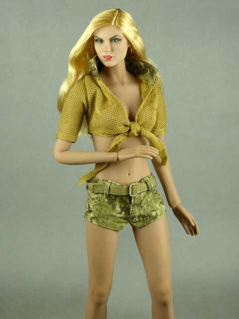 Fire Girl Toys 1/6 Scale Female Sexy Military Camouflage Set #2 (Lite Khaki Version)