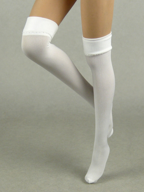 Flirty Girl 1/6 Scale Female White Color Knee-High Stocking