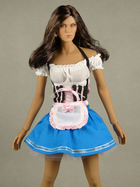 Flirty Girl 1/6 Scale Oktoberfest Beer Maid Uniform Set (Blue)