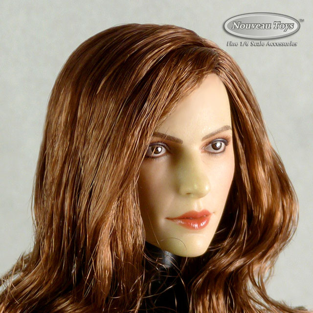 GAC Toys 1/6 Scale Female Caucasian Head Sculpt (Pale Suntan) With Rooted Brunette Hair GC013B