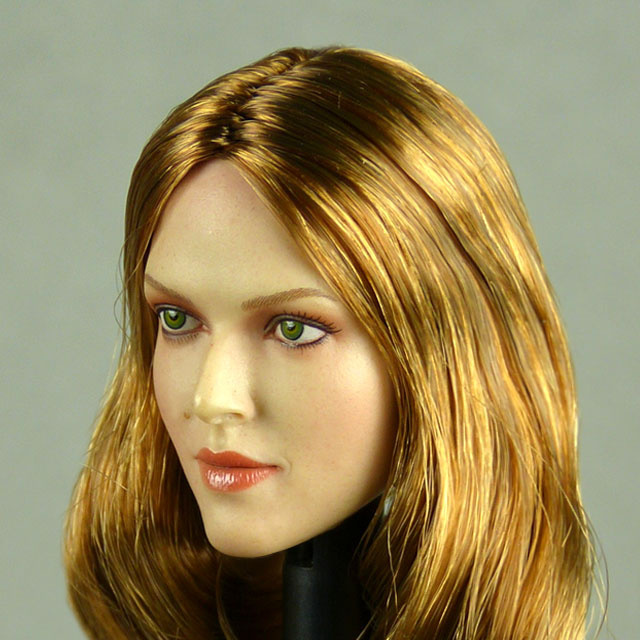 GAC Toys 1/6 Scale Female Caucasian Head Sculpt (Pale Suntan) With Rooted Brunette Hair