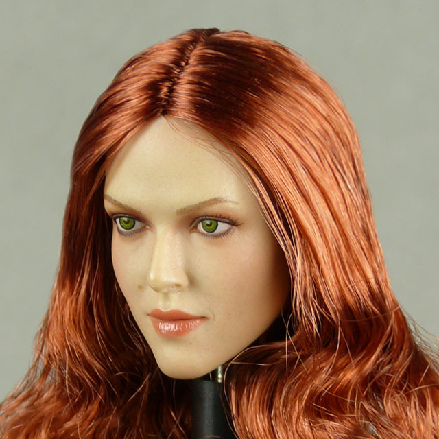 GAC Toys 1/6 Scale Female Caucasian Head Sculpt (Pale Suntan) With Rooted Red Hair