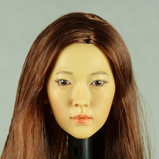 Kumik 1/6 Scale Female Head Sculpt Ann With Hairpiece - K093