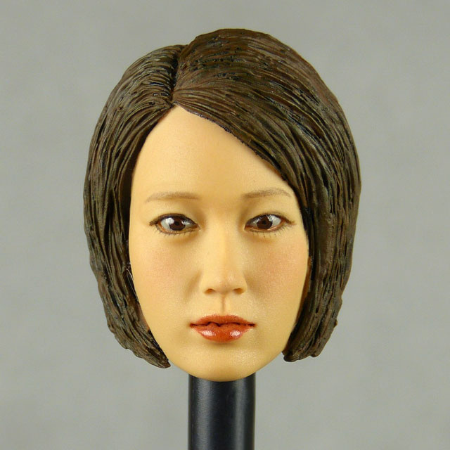 Kumik 1/6 Scale Female Head Sculpt Min Jun With Sculpted Hairpiece - K004A