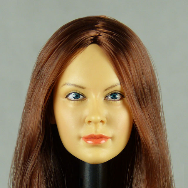 Kumik 1/6 Scale Female Head Sculpt Chloe With Hairpiece - K059
