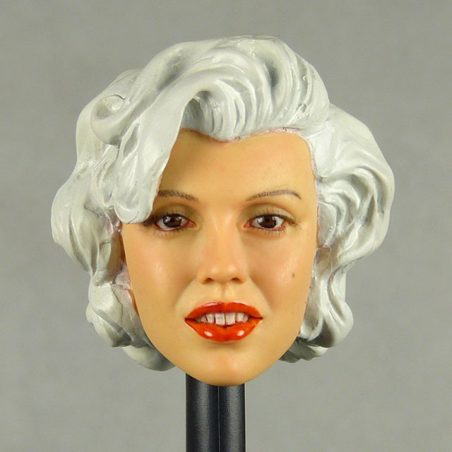 Kumik 1/6 Scale Female Head Sculpt Carole With Hairpiece - K062
