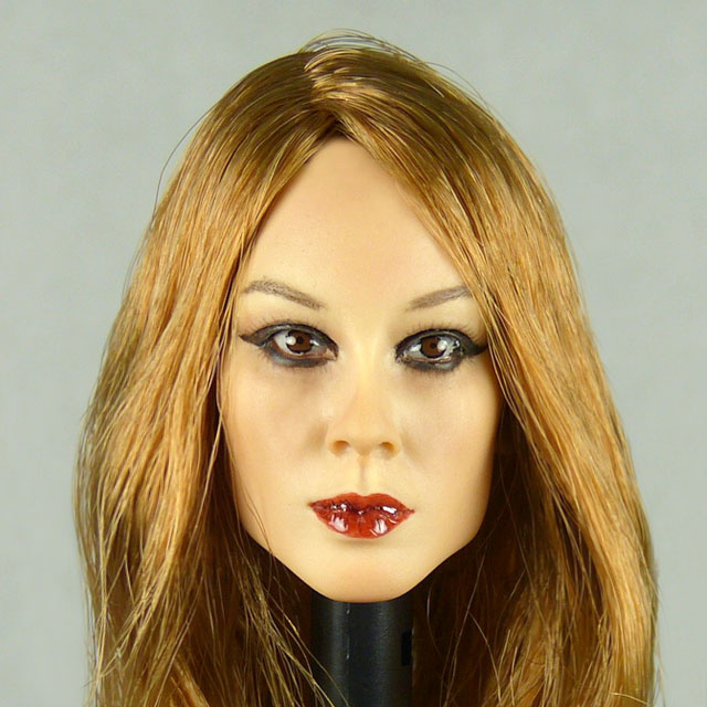 Kumik 1/6 Scale Female Head Sculpt Ryung With Hairpiece - K063