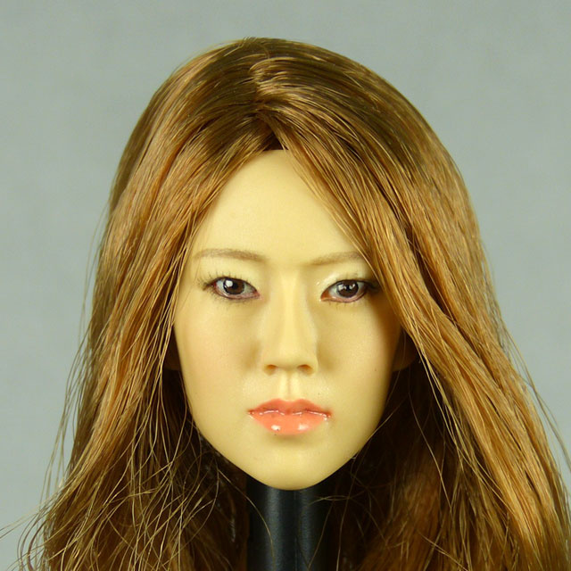 Kumik 1/6 Scale Female Head Sculpt Eun Kyun With Hairpiece - K071