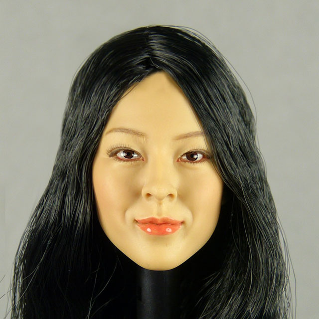 Kumik 1/6 Scale Female Head Sculpt Hei Ryung With Hairpiece - K076