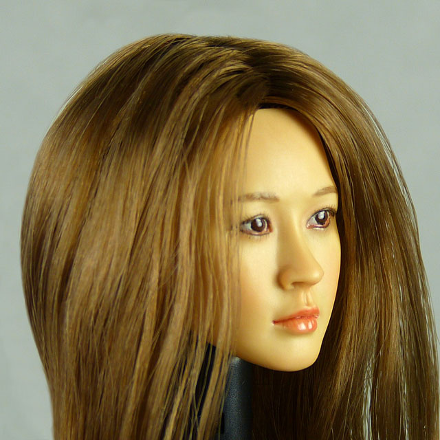 Kumik 1/6 Scale Female Head Sculpt J.H. With Hairpiece - K083 2