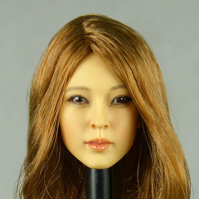 Kumik 1/6 Scale Female Head Sculpt Phoebe With Hairpiece - K098