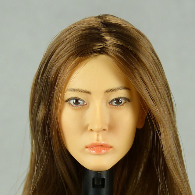 Kumik 1/6 Scale Female Head Sculpt Chieko With Hairpiece - K102
