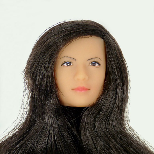 Lady's Mission 1/6 Scale Female Head Sculpt Noriko With Rooted Hair
