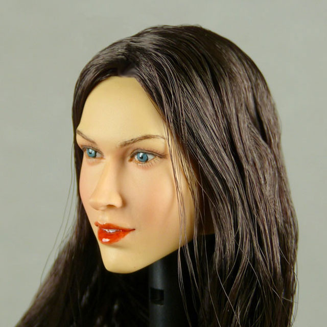 Nouveau Toys 1/6 Scale Female Head Sculpt Samantha With Black Hairpiece - NT001BB