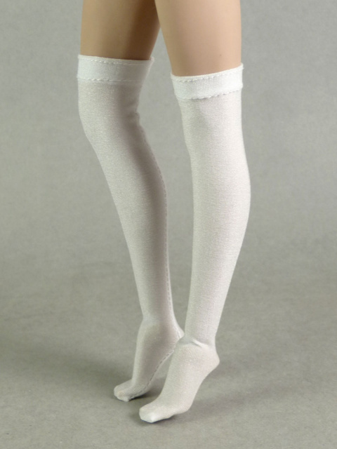 Nouveau Toys 1/6 Scale Female White Color Knee-High Sheen Stocking