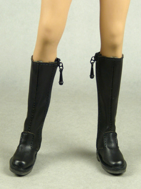 Nouveau Toys 1/6 Scale Female Black Equestrian Boots with Side Zipper