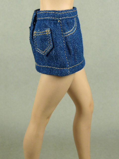Nouveau Toys 1/6 Scale Basic Blue Denim Short Skirt