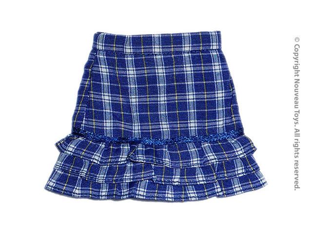 a5624bd7663a Nouveau Toys Uniform Series - 1/6 Scale Female Blue Tartan Layered Skirt