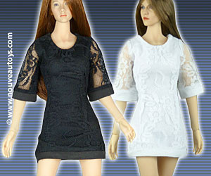 1/6 Nouveau Toys Black And White Lace Dresses Banner