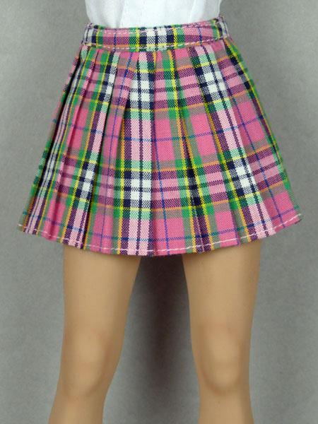 8970df62330 Nouveau Toys Uniform Series - 1/6 Scale Female Pink Tartan Plaid Skirt