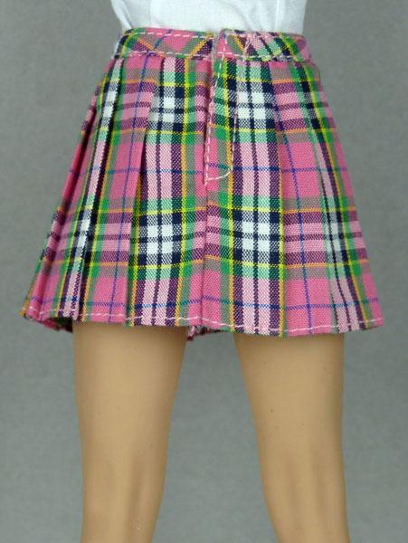 ac4ab08492f6 Nouveau Toys Uniform Series - 1/6 Scale Female Pink Tartan Plaid Skirt
