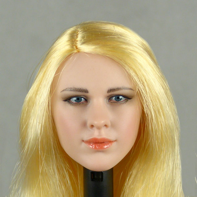 Phicen 1/6 Scale Female Snow Soldier Head Sculpt (Pale Suntan) With Rooted Blonde Hair