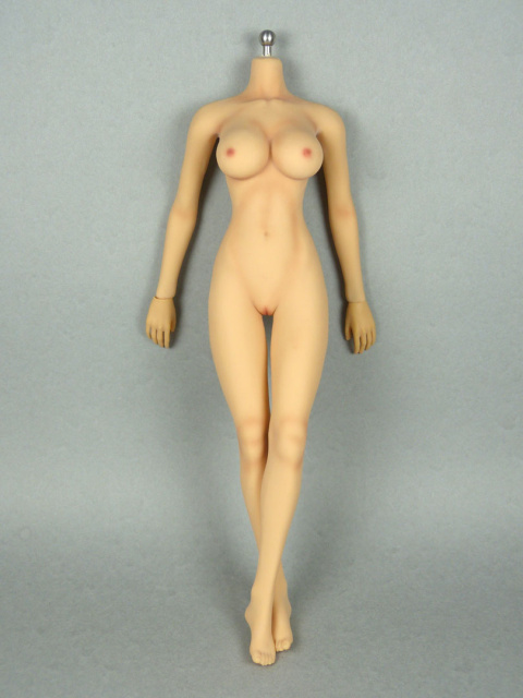 1/6 Phicen Super-Flexible Female Seamless Base Body with Stainless Steel Skeleton (Tan Skin Large Bu