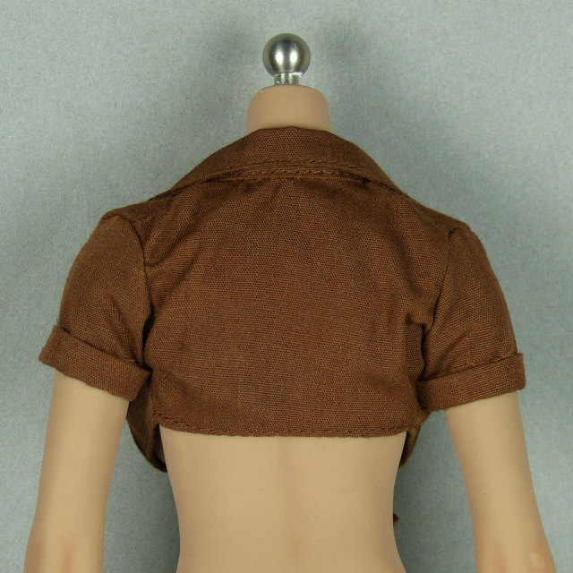 SMcG 1/6 Scale Sexy Female Brown Summer Top Shirt Image 3