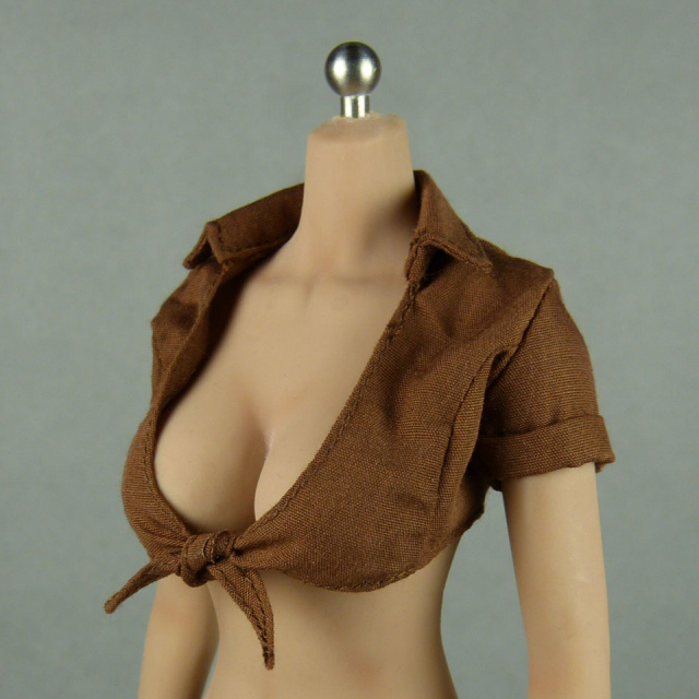 SMcG 1/6 Scale Sexy Female Brown Summer Top Shirt Image 2