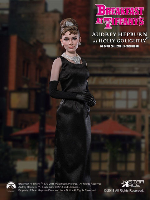 Star Ace Toys 1/6 Scale Breakfast At Tiffany's Holly Golightly Audrey Hepburn Figure Standard Box Se