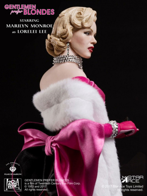 Star Ace Toys 1/6 Scale Gentlemen Prefer Blondes Marilyn Monroe Figure Deluxe Box Set