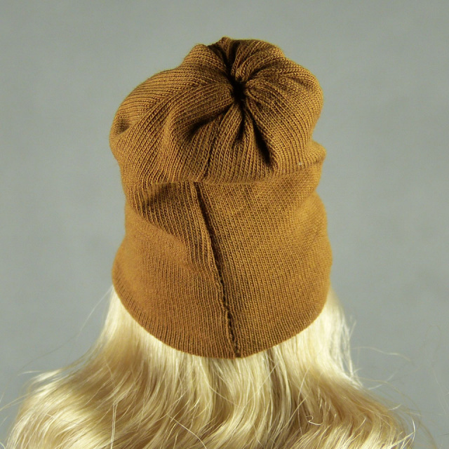 Vogue 1/6 Scale Female Fashion Light Brown Knit Beanie Hat Image 3