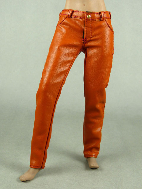 Vogue 1 6 Scale Female Orange Slim Fit Leather Pants
