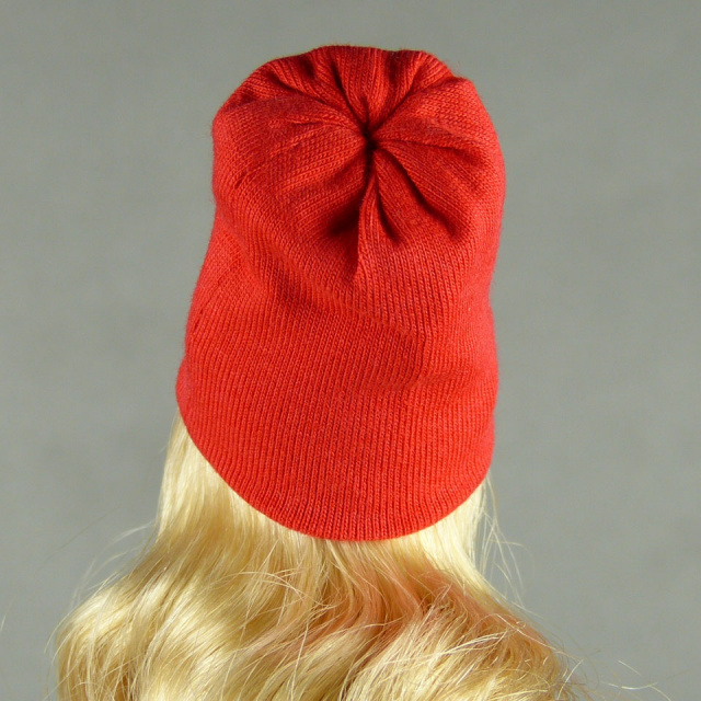 Vogue 1/6 Scale Female Fashion Red Knit Beanie Hat Image 3