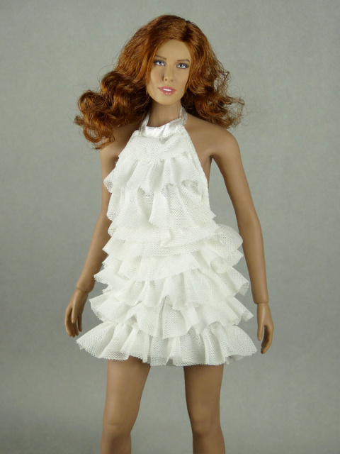 Vogue 1/6 Scale Female Fashion White Layered Lace Party Dress Image 1