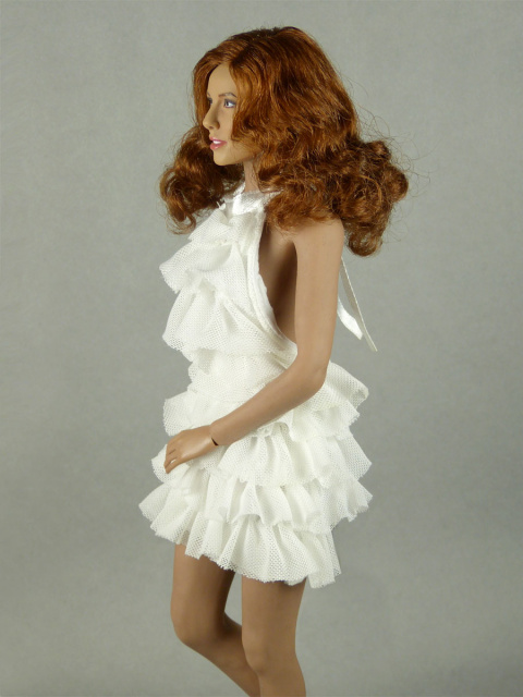 Vogue 1/6 Scale Female Fashion White Layered Lace Party Dress Image 2