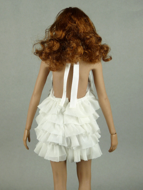 Vogue 1/6 Scale Female Fashion White Layered Lace Party Dress Image 3