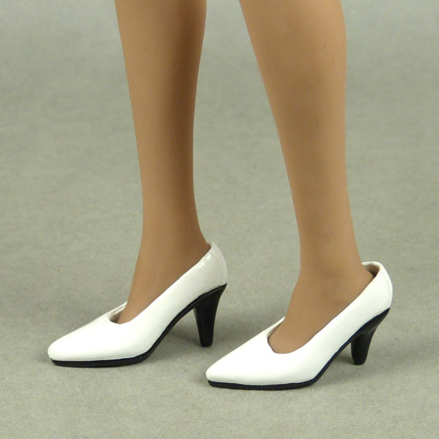 VorToys 1/6 Scale Female Sexy White High Heel Shoes